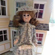 Muñecas Porcelana: PRECIOSA MUÑECA LADY DE PORCELANA JUMEAU - REPRODUCCIÓN . Lote 83285436
