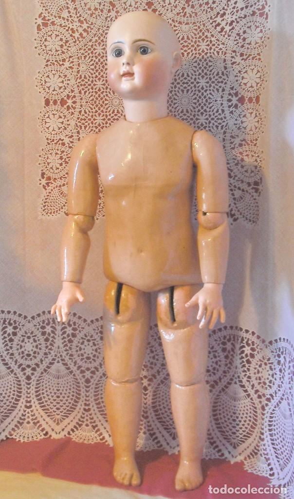 Muñecas Porcelana: MUÑECA STEINER, BOCA CERRADA . circa 1880,70 Cm. - Foto 4 - 90763975