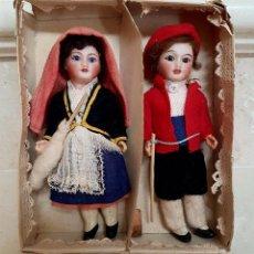 Muñecas Porcelana: PRECIOSA PAREJA DE MUÑECOS MIGNONETES ANTIGUOS DE PRINCIPIOS DEL S. XX. Lote 93602005