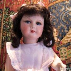 Muñecas Porcelana: BELLÍSIMA MUÑECA ANDADORA ,CABEZA DE PORCELANA, FRANCESA,MARCADA (75CM)- DOLL, POUPÉE. Lote 97847135