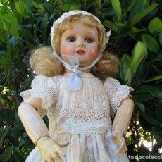 Muñecas Porcelana: MUÑECA CABEZA DE PORCELANA, SELLADA UNIS FRANCE 101 -8- 60CM. Lote 99451843