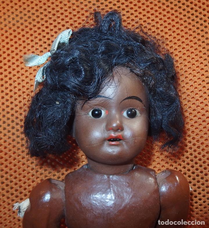 Muñecas Porcelana: MUÑECA PORCELANA,NEGRA,FRANCE,MARCADA CON LETRA E,FINALES DEL S.XIX Ó PPIO DEL XX - Foto 5 - 100305039