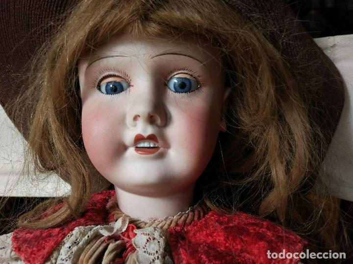 Muñecas Porcelana: GRAN MUÑECA FRANCESA DE LIMOGES. J.B (Jean Boyer) molde 13 de 7O/75 cmts.600 euros Mueve los ojos . - Foto 2 - 102601223