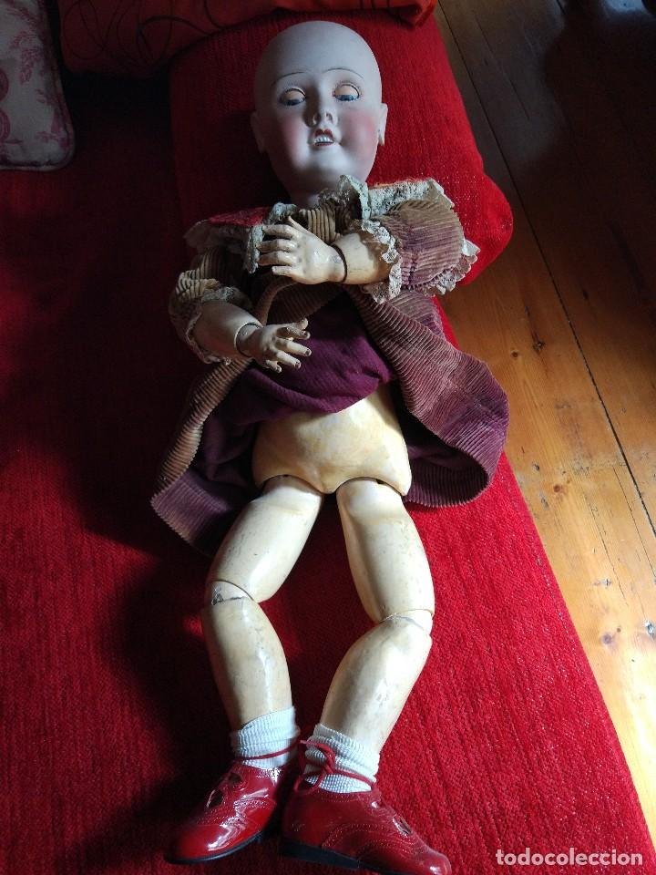 Muñecas Porcelana: GRAN MUÑECA FRANCESA DE LIMOGES. J.B (Jean Boyer) molde 13 de 7O/75 cmts.600 euros Mueve los ojos . - Foto 6 - 102601223