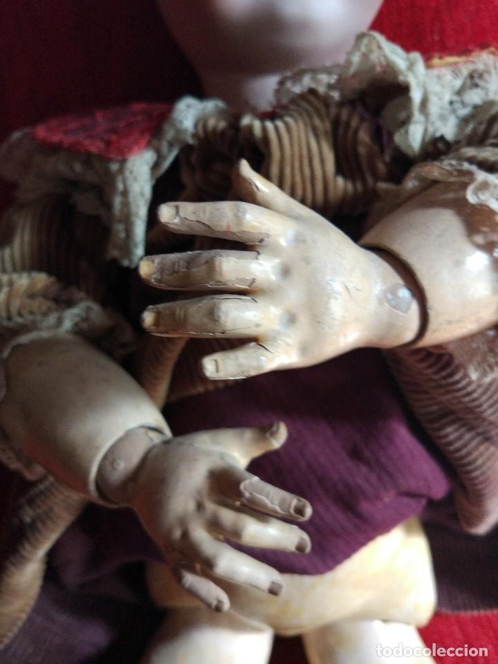 Muñecas Porcelana: GRAN MUÑECA FRANCESA DE LIMOGES. J.B (Jean Boyer) molde 13 de 7O/75 cmts.600 euros Mueve los ojos . - Foto 8 - 102601223