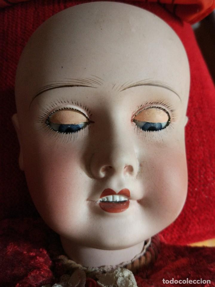 Muñecas Porcelana: GRAN MUÑECA FRANCESA DE LIMOGES. J.B (Jean Boyer) molde 13 de 7O/75 cmts.600 euros Mueve los ojos . - Foto 9 - 102601223