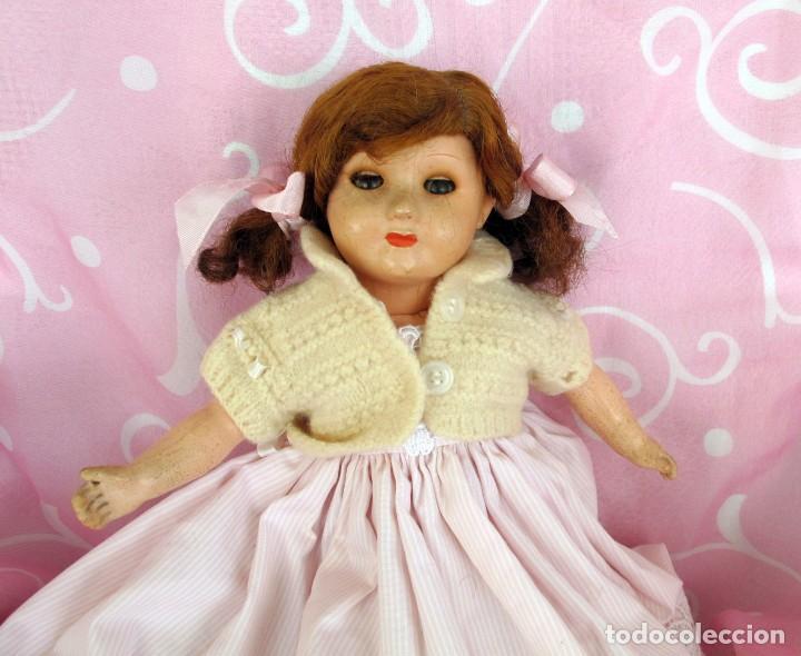 Muñecas Porcelana: MUÑECA FRANCESA, CUERPO COMPOSICION MARCADA SFBJ PARIS, OJOS DURMIENTES 37CM - Foto 4 - 103490895