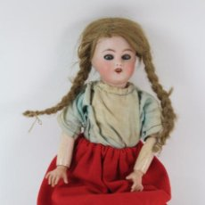 Muñecas Porcelana: * MUÑECA FRANCESA DE CARTON PIEDRA Y CABEZA DE PORCELANA LIMOGES. PRINCIPIOS S.XIX. 42 CM.. Lote 104358275