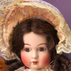 Muñecas Porcelana: IMPRESIONANTE REPRODUCCION DE MUÑECA JUMEAU TETE DEPOSE - 68 CM - MARCADA. Lote 104738791