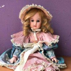 Muñecas Porcelana: IMPRESIONANTE REPRODUCCION DE MUÑECA JUMEAU 52 CM. Lote 104738999