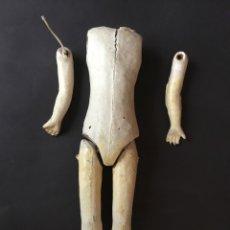 Muñecas Porcelana: CUERPO ANTIGUO DE COMPOSICIÓN TIPO FLEISCHMANN DE 36 CM. Lote 112416620