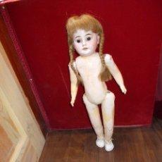 Muñecas Porcelana: MUÑECA DE PORCELANA OJOS CRISTAL CUERPO CARTÓN PIEDRA ARMAND MARSEILLE MOLDE DEP 1884 50 CMS (B). Lote 112542035
