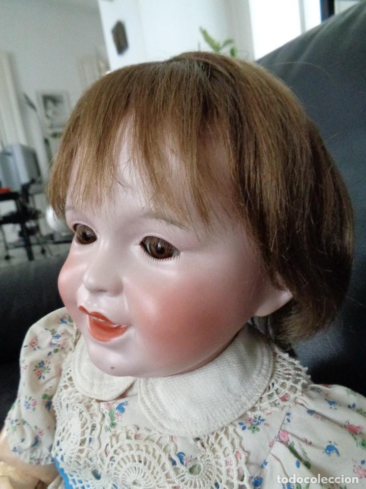 Muñecas Porcelana: BEBÉ SONRIENTE DE JUMEAU 60 cm PERFECTO, CON TRUSSEAU ANTIGUO Y CUERPO TODDLER - Foto 8 - 125160994