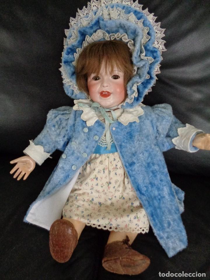 Muñecas Porcelana: BEBÉ SONRIENTE DE JUMEAU 60 cm PERFECTO, CON TRUSSEAU ANTIGUO Y CUERPO TODDLER - Foto 9 - 125160994
