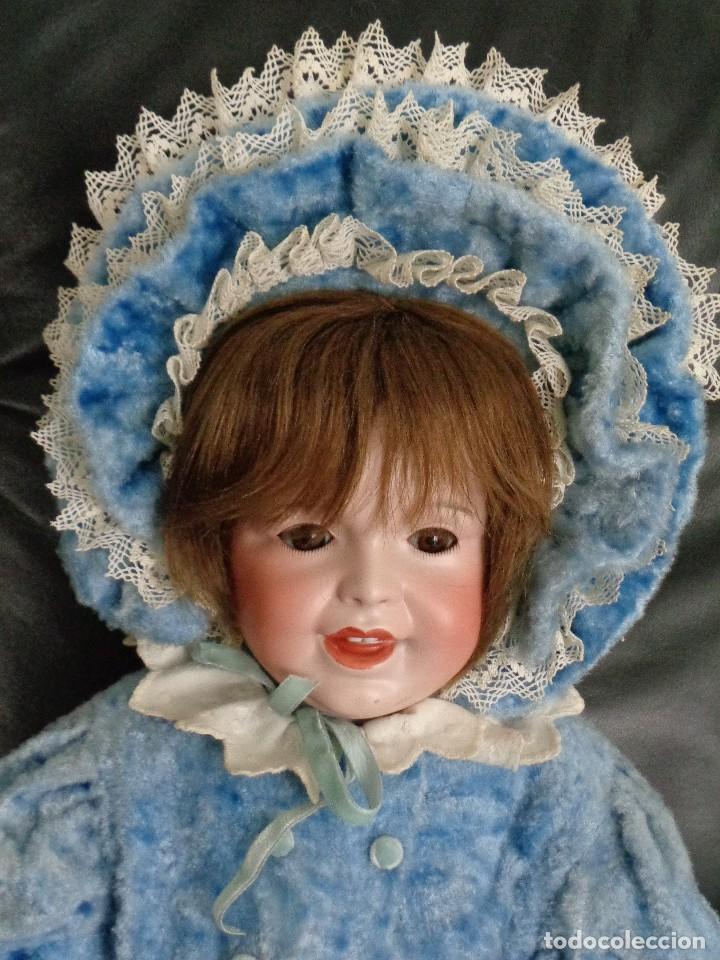 Muñecas Porcelana: BEBÉ SONRIENTE DE JUMEAU 60 cm PERFECTO, CON TRUSSEAU ANTIGUO Y CUERPO TODDLER - Foto 10 - 125160994