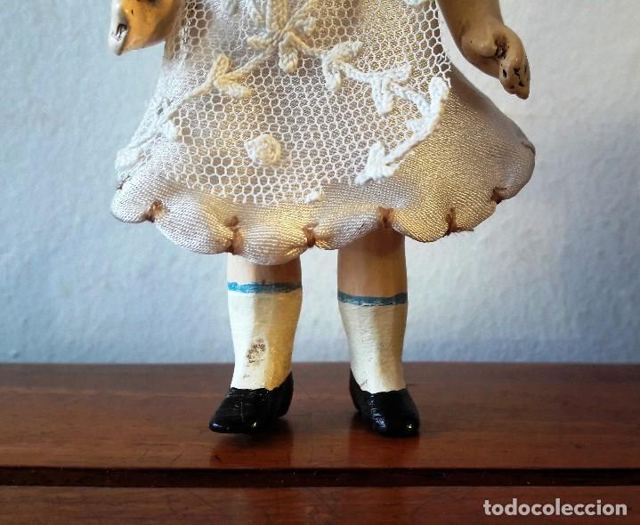 Muñecas Porcelana: Muñeca antígua de cabeza de biscuit de casa de muñecas - Foto 2 - 115311443
