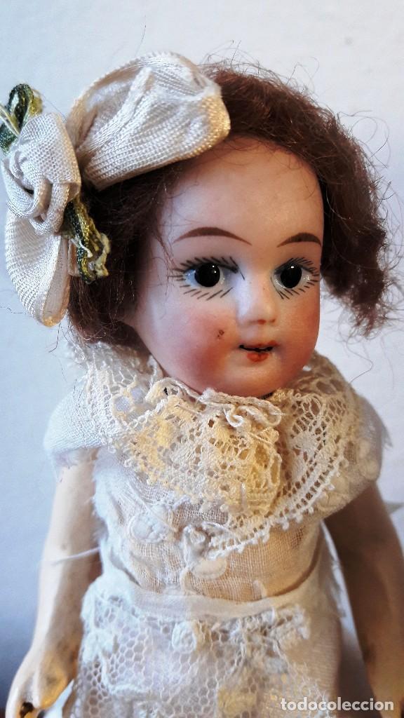 Muñecas Porcelana: Muñeca antígua de cabeza de biscuit de casa de muñecas - Foto 4 - 115311443