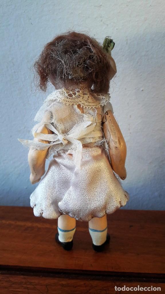 Muñecas Porcelana: Muñeca antígua de cabeza de biscuit de casa de muñecas - Foto 5 - 115311443