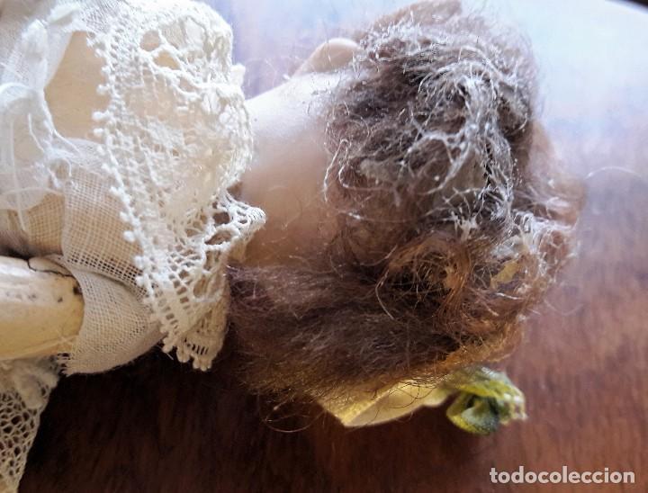 Muñecas Porcelana: Muñeca antígua de cabeza de biscuit de casa de muñecas - Foto 6 - 115311443