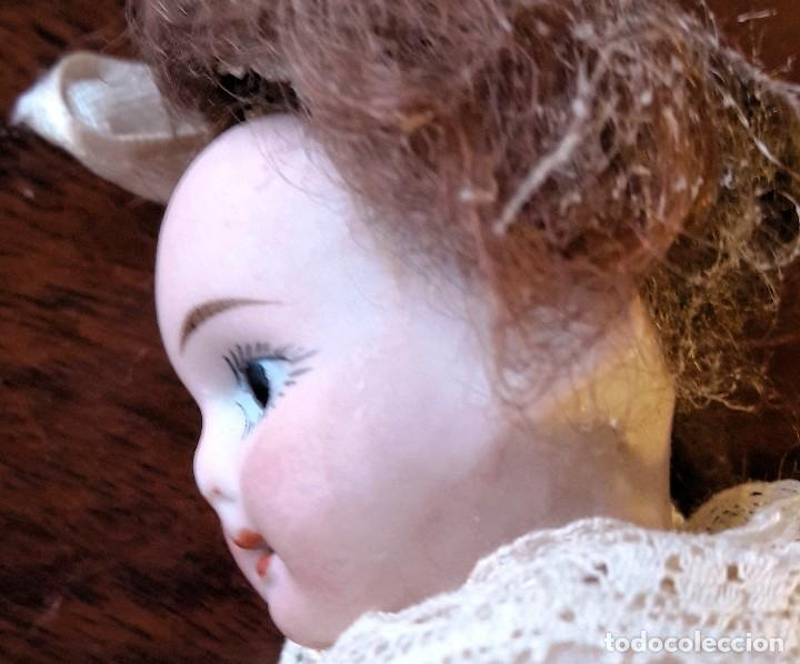 Muñecas Porcelana: Muñeca antígua de cabeza de biscuit de casa de muñecas - Foto 7 - 115311443