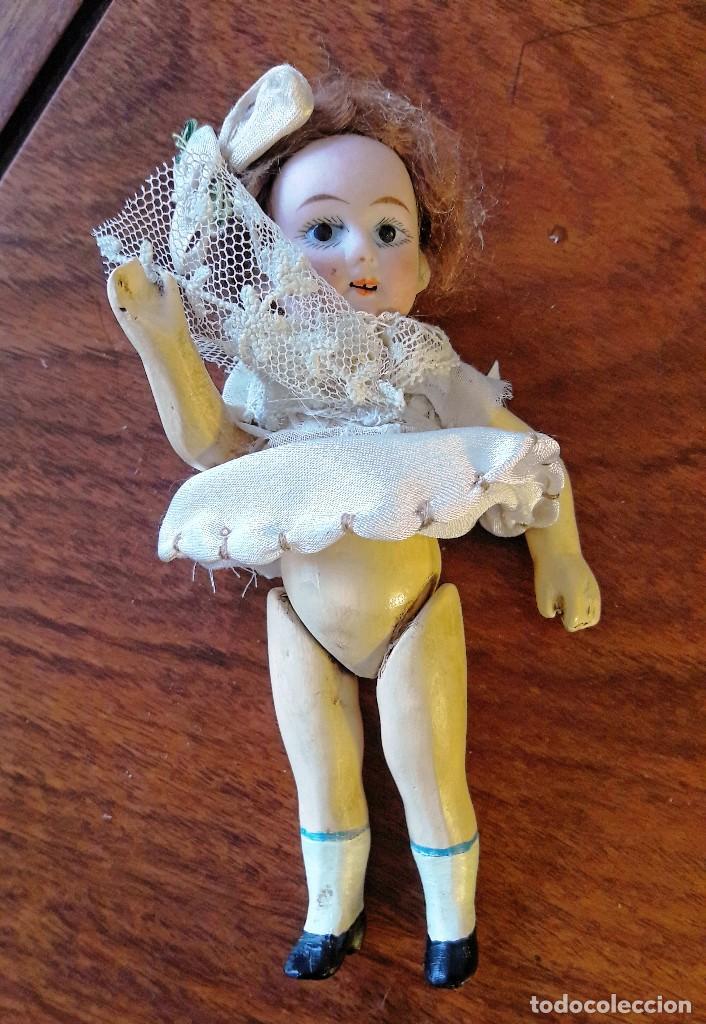 Muñecas Porcelana: Muñeca antígua de cabeza de biscuit de casa de muñecas - Foto 8 - 115311443
