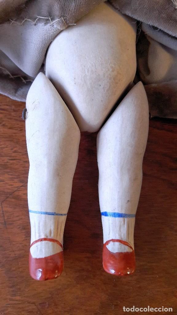 Muñecas Porcelana: Muñeca antígua de biscuit de casa de muñecas - Foto 7 - 115311603