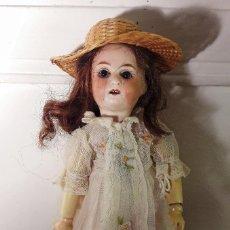 Muñecas Porcelana: MUÑECA ANTÍGUA. CABEZA DE PORCELANA. Lote 115583231