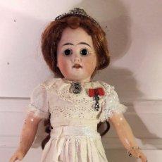 Muñecas Porcelana: MUÑECA ANTÍGUA. CABEZA DE BISCUIT. Lote 115583707