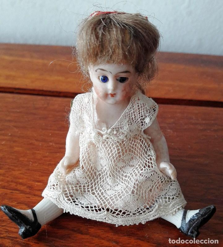 Muñecas Porcelana: Muñeca antígua de biscuit para casa de muñecas - Foto 2 - 118776483