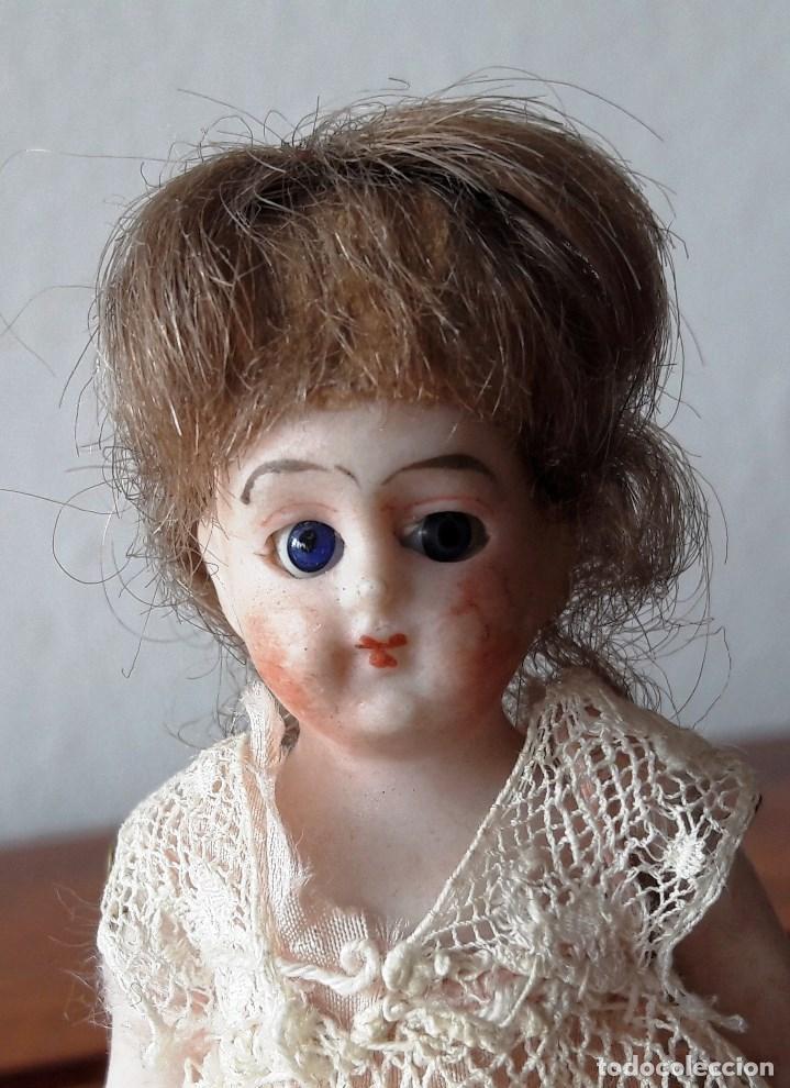 Muñecas Porcelana: Muñeca antígua de biscuit para casa de muñecas - Foto 3 - 118776483