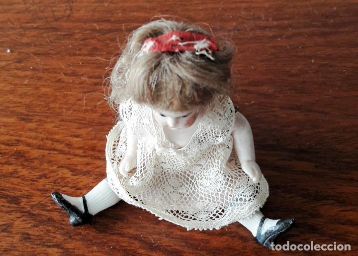 Muñecas Porcelana: Muñeca antígua de biscuit para casa de muñecas - Foto 6 - 118776483