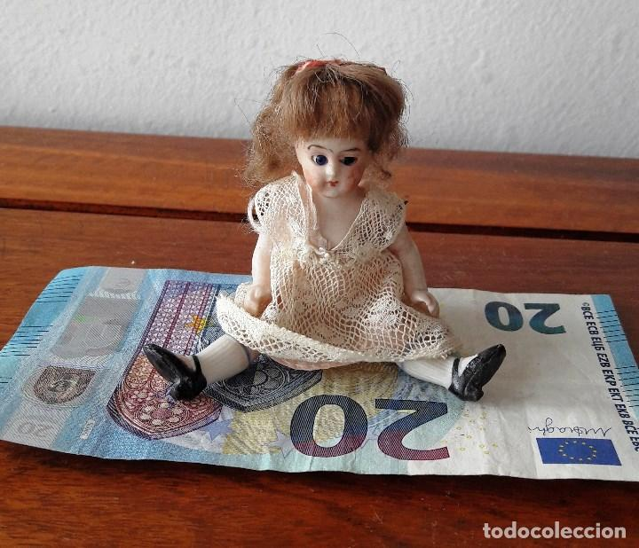 Muñecas Porcelana: Muñeca antígua de biscuit para casa de muñecas - Foto 7 - 118776483