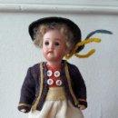 Muñecas Porcelana: MUÑECO ANTÍGUO PEQUEÑO CON CABEZA DE BISCUIT. Lote 118778039