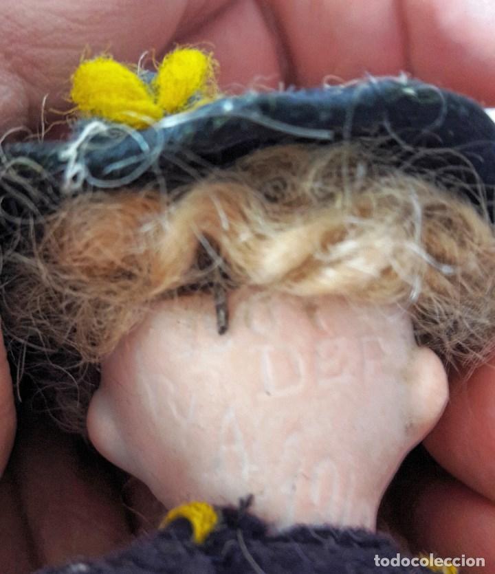 Muñecas Porcelana: Muñeco antíguo pequeño con cabeza de biscuit - Foto 4 - 118778039