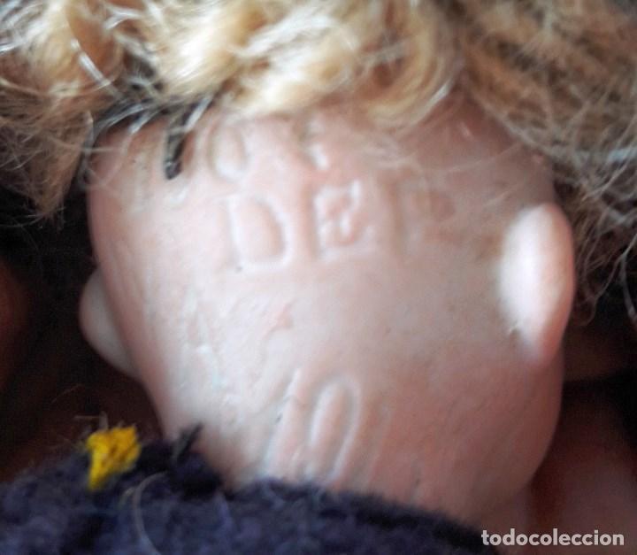 Muñecas Porcelana: Muñeco antíguo pequeño con cabeza de biscuit - Foto 5 - 118778039