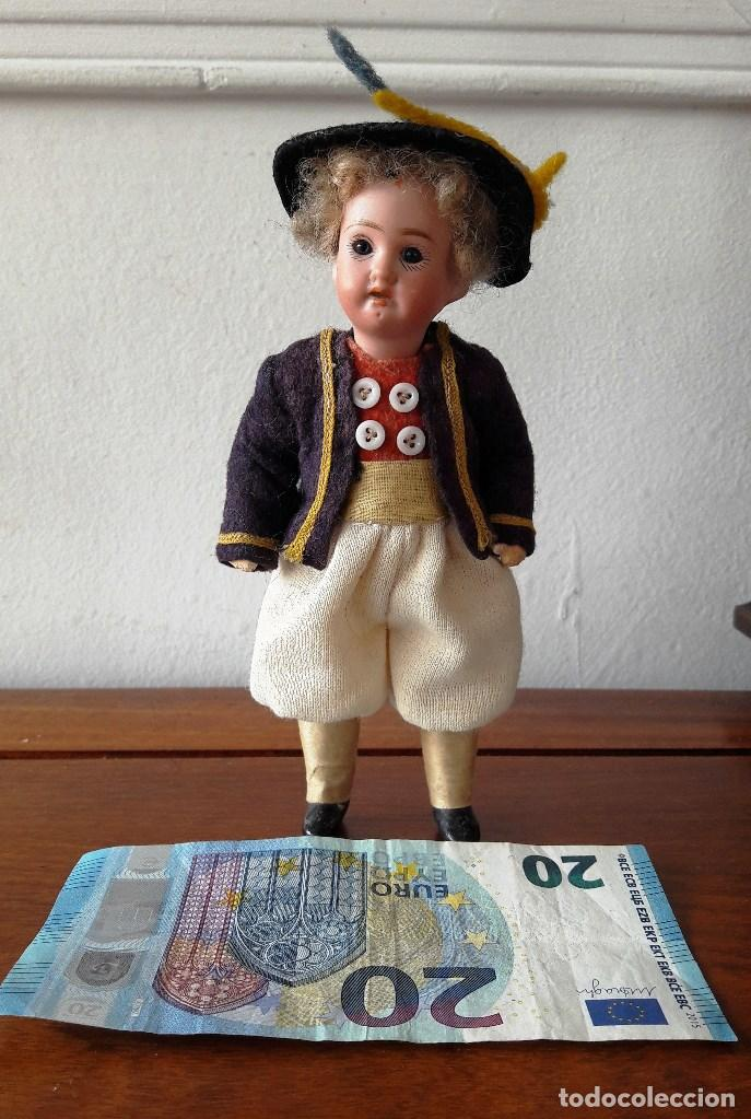 Muñecas Porcelana: Muñeco antíguo pequeño con cabeza de biscuit - Foto 8 - 118778039