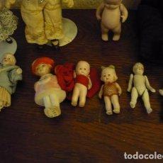 Muñecas Porcelana: LOTE DE MUÑECAS ANTIGUAS EN MINIATURA. Lote 120245571