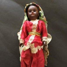Muñecas Porcelana: MUÑECA NEGRA DE PORCELANA DE PRINCIPIOS S. XX, 30 CM. Lote 114618646