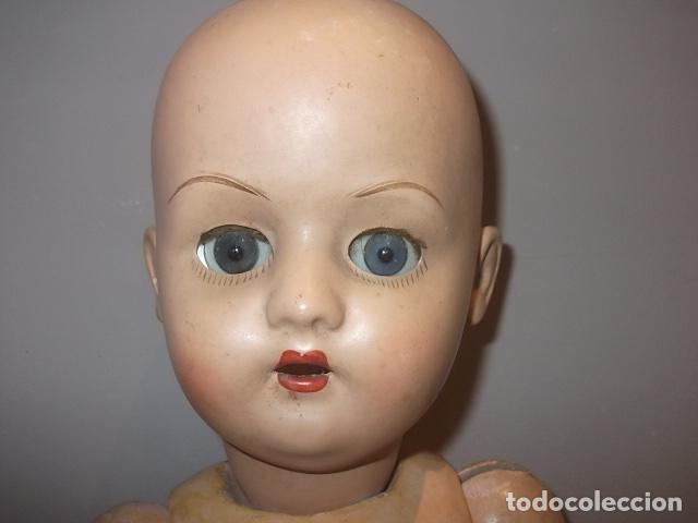 Muñecas Porcelana: MUÑECA ANTIGUA CABEZA PORCELANA CREO CUERPO MADERA GRAN TAMAÑO BARATA VER DESCRIPCION - Foto 2 - 120855839