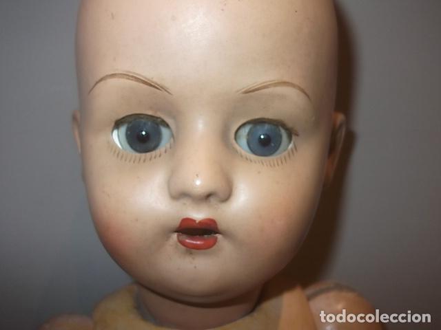 Muñecas Porcelana: MUÑECA ANTIGUA CABEZA PORCELANA CREO CUERPO MADERA GRAN TAMAÑO BARATA VER DESCRIPCION - Foto 3 - 120855839