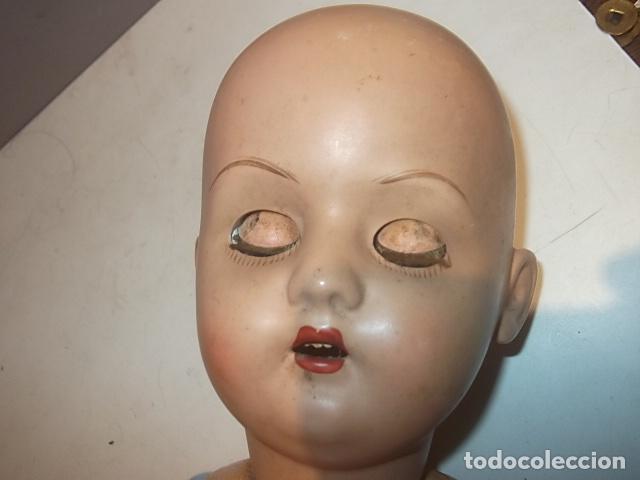 Muñecas Porcelana: MUÑECA ANTIGUA CABEZA PORCELANA CREO CUERPO MADERA GRAN TAMAÑO BARATA VER DESCRIPCION - Foto 9 - 120855839