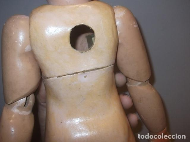 Muñecas Porcelana: MUÑECA ANTIGUA CABEZA PORCELANA CREO CUERPO MADERA GRAN TAMAÑO BARATA VER DESCRIPCION - Foto 12 - 120855839