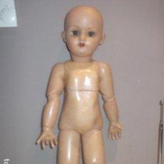 Muñecas Porcelana: MUÑECA ANTIGUA CABEZA PORCELANA CREO CUERPO MADERA GRAN TAMAÑO BARATA VER DESCRIPCION. Lote 120855839