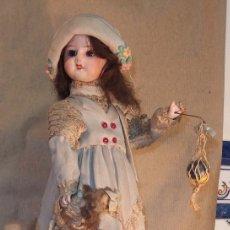 Muñecas Porcelana - AUTÓMATA DE PORCELANA,CON MUÑECA Y PELOTA,MUSICAL,LAMBERT,FRANCE,FINALES DEL SIGLO XIX - 121637167