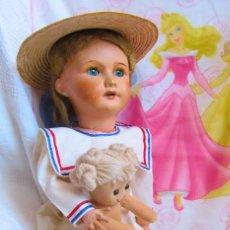 Muñecas Porcelana: ANTIGUA MUÑECA FRANCESA, CABEZA DE PORCELANA, MARCADA - DOLL, POUPÉE. Lote 129597647