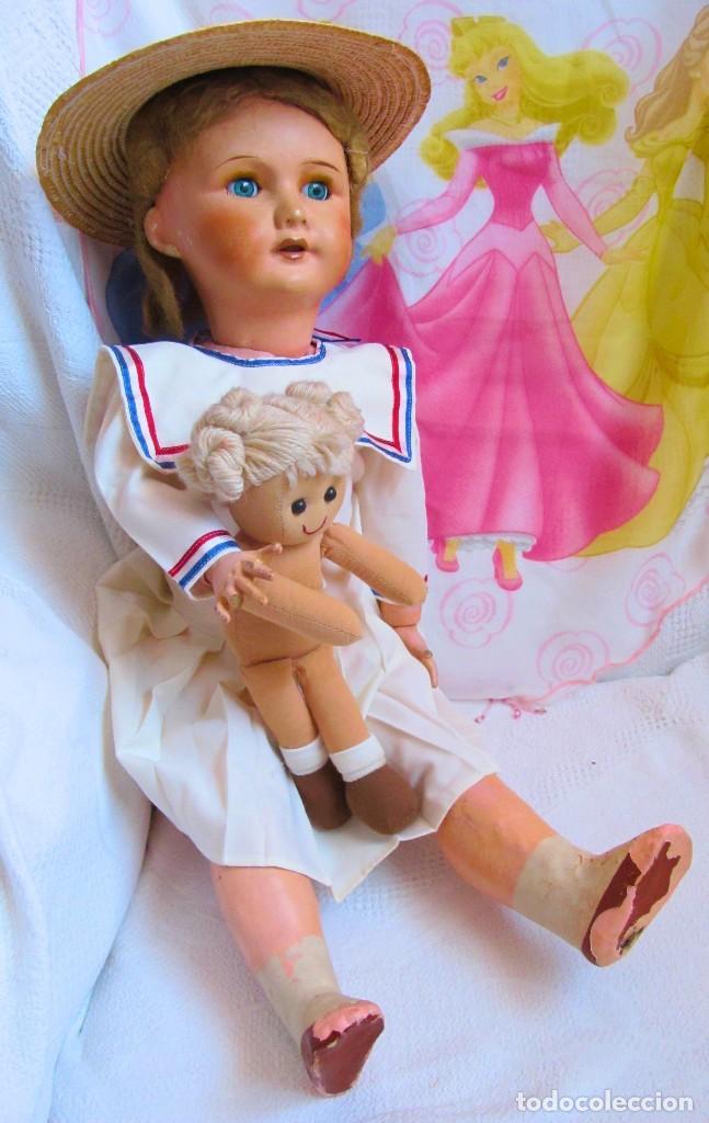 Muñecas Porcelana: ANTIGUA MUÑECA FRANCESA, CABEZA DE PORCELANA, MARCADA - DOLL, POUPÉE - Foto 2 - 129597647