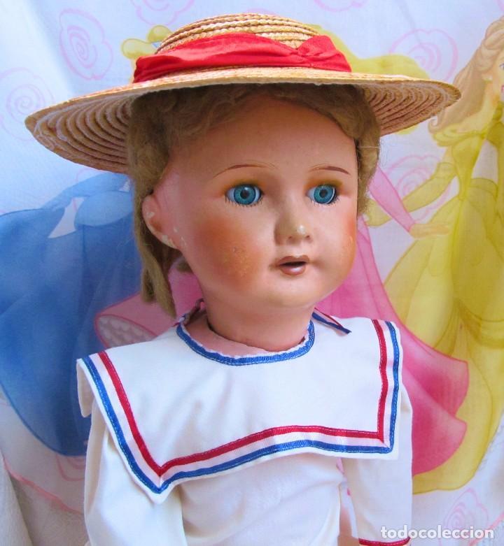 Muñecas Porcelana: ANTIGUA MUÑECA FRANCESA, CABEZA DE PORCELANA, MARCADA - DOLL, POUPÉE - Foto 3 - 129597647