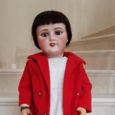 Muñecas Porcelana: PRECIOSA MUÑECA ANTIGUA DE GRAN TAMAÑO ,CABEZA PORCELANA ,MARCADA EN LA NUCA,FRANCIA. Lote 131953318