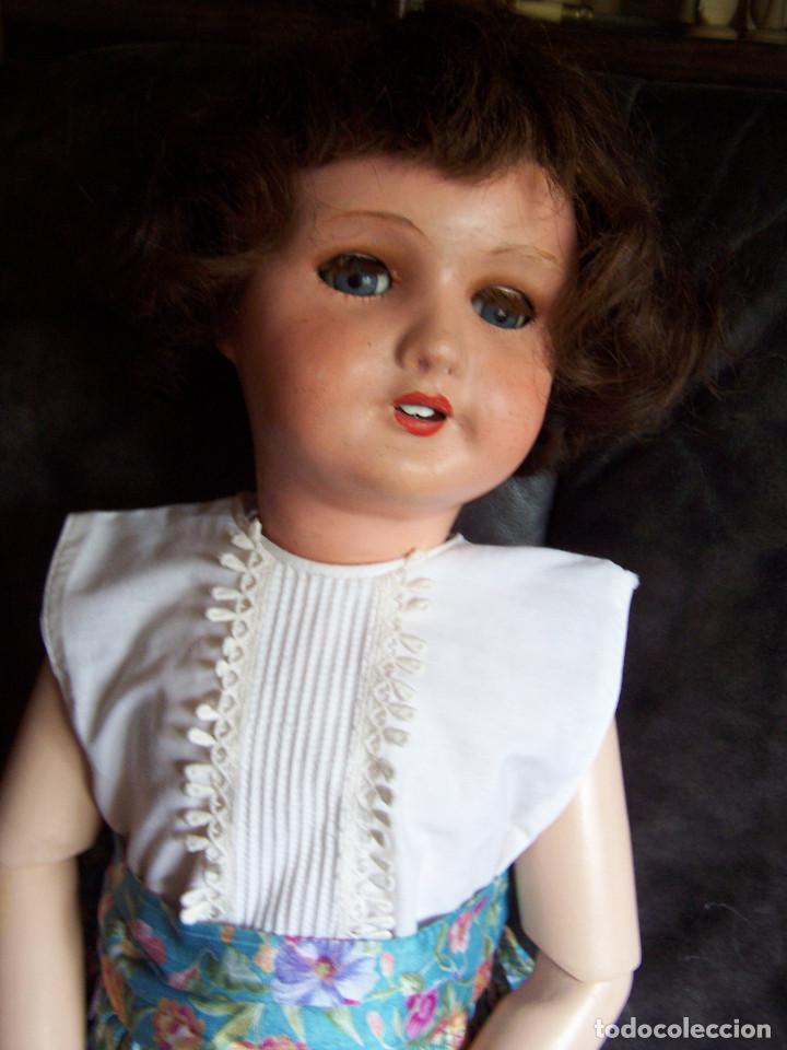 Muñecas Porcelana: Muñeca francesa marcada Unis France modelo 301 – 11. años 20. Molde SFBJ. 66 cm. - Foto 4 - 132561358