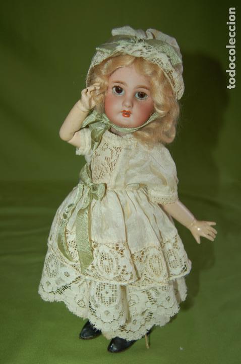Muñecas Porcelana: dep jumeau automata andadora a cuerda funciona - Foto 2 - 133000310